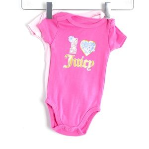 🌺2/15$ Set 2 Juicy Couture baby onesies bodysuit